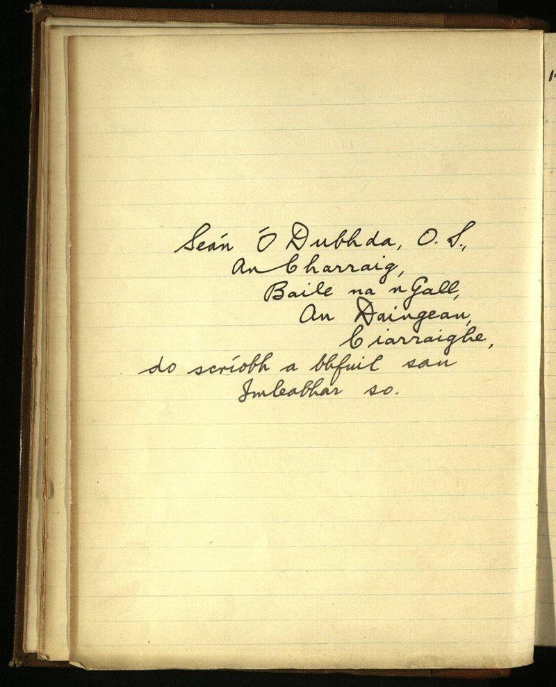 Kilmalkedar/Ventry   The Main Manuscripts Collection