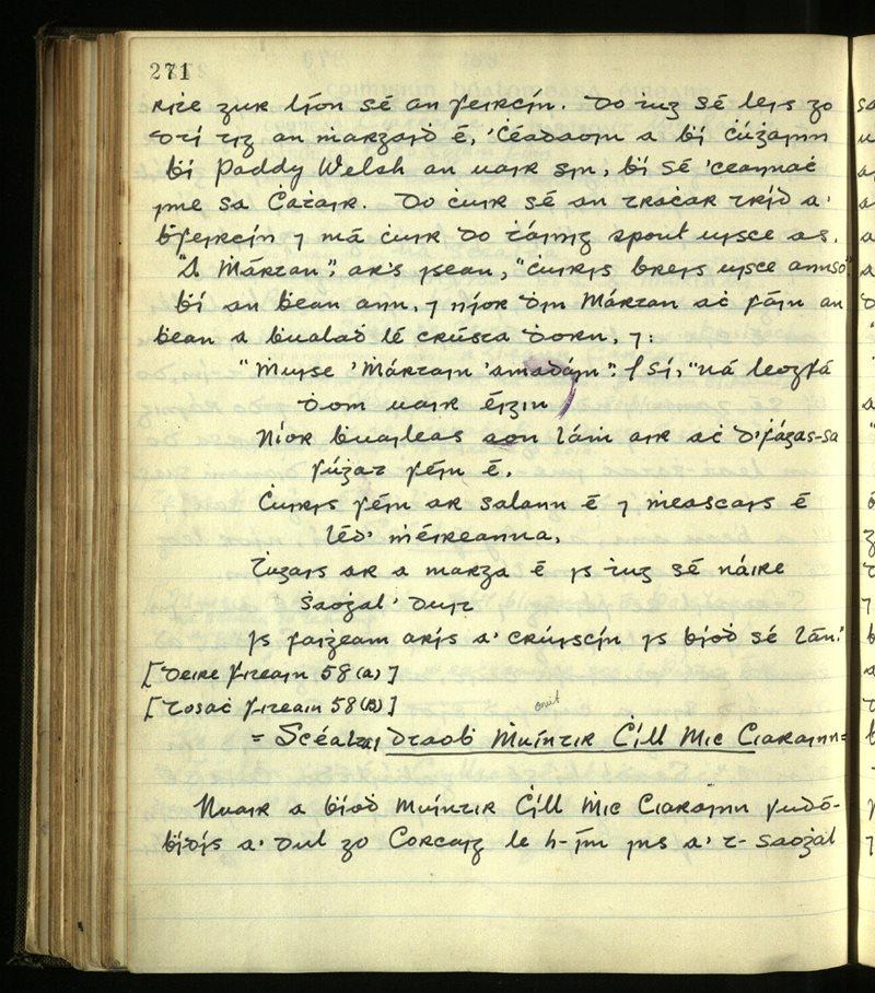 Dromod/Kilcrohane/Prior   The Main Manuscripts Collection