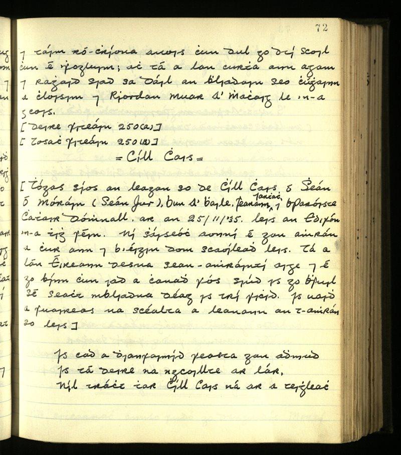 Dromod/Kilcrohane   The Main Manuscripts Collection