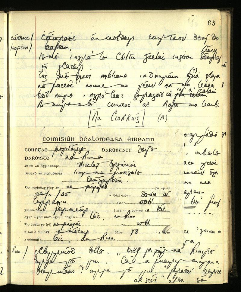 Ringagonagh | The Main Manuscripts Collection
