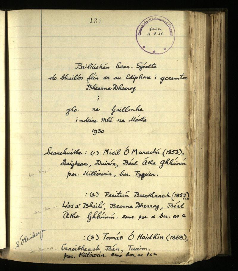 Barnaderg | The Main Manuscripts Collection