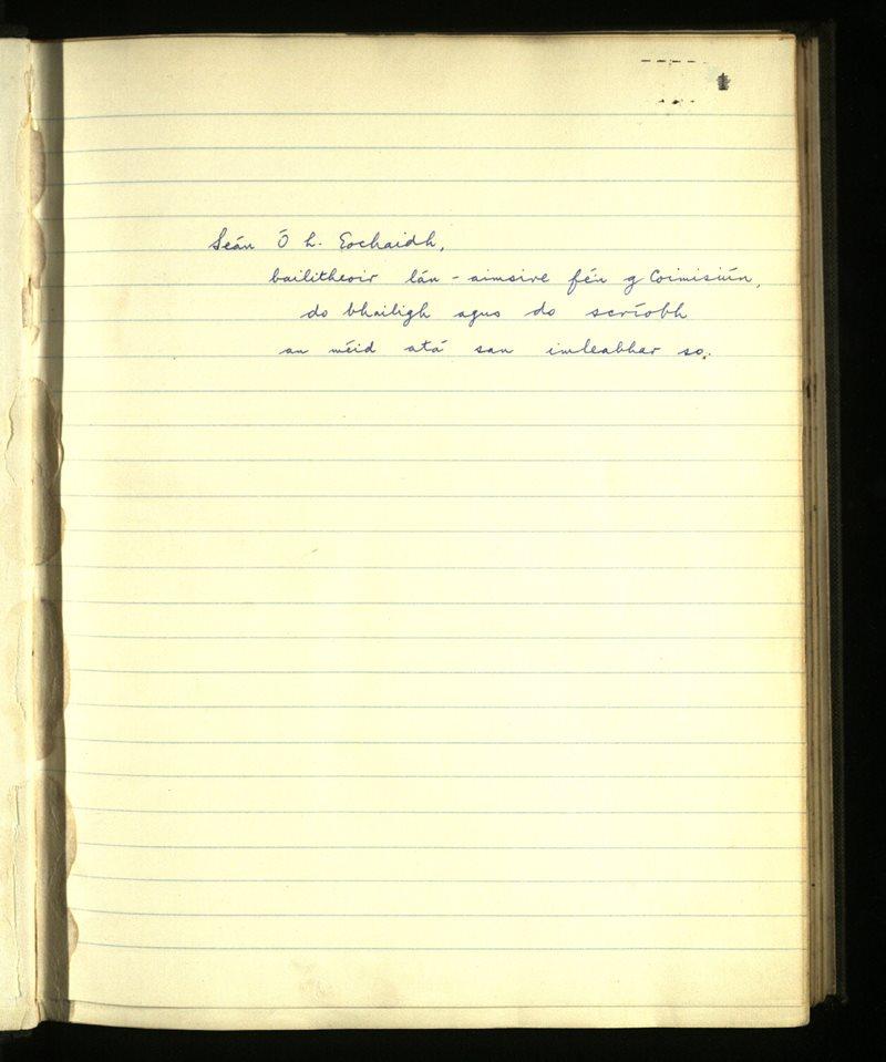 Gleann Cholm Cille/Cill Charthaigh | An Príomhbhailiúchán Lámhscríbhinní
