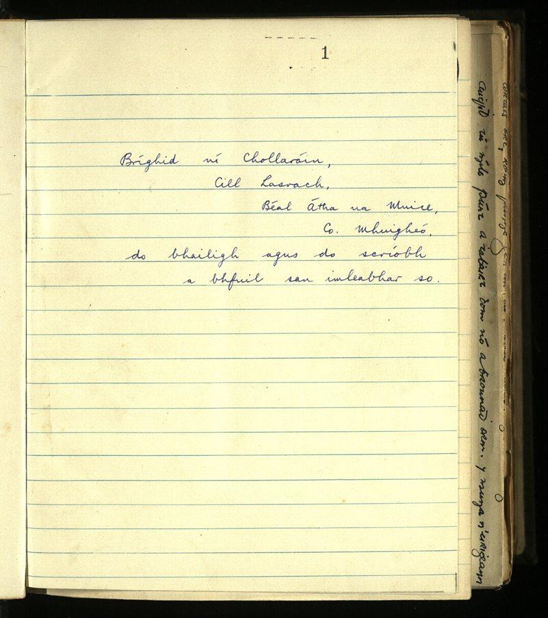 Ballyovey/Killasser/Kilmacteige/Carrowroe; Carraroe   The Main Manuscripts Collection