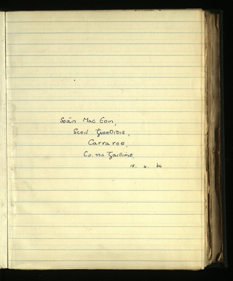 Costelloe/Carrowroe; Carraroe/Carna   The Main Manuscripts Collection