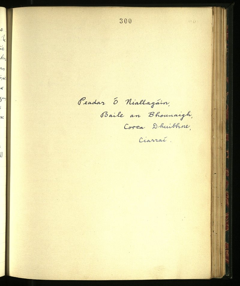 Dingle/Lispole | The Main Manuscripts Collection