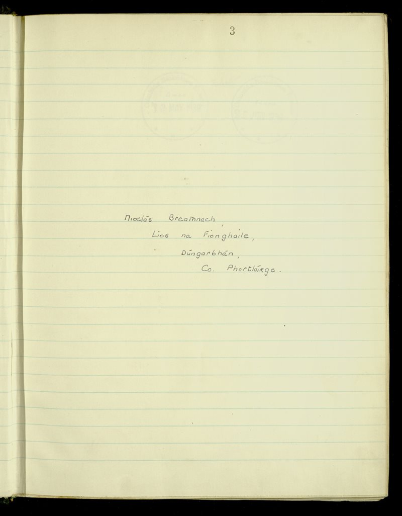 Ardmore​/​Ringagonagh​/​Stradbally | The Main Manuscripts Collection