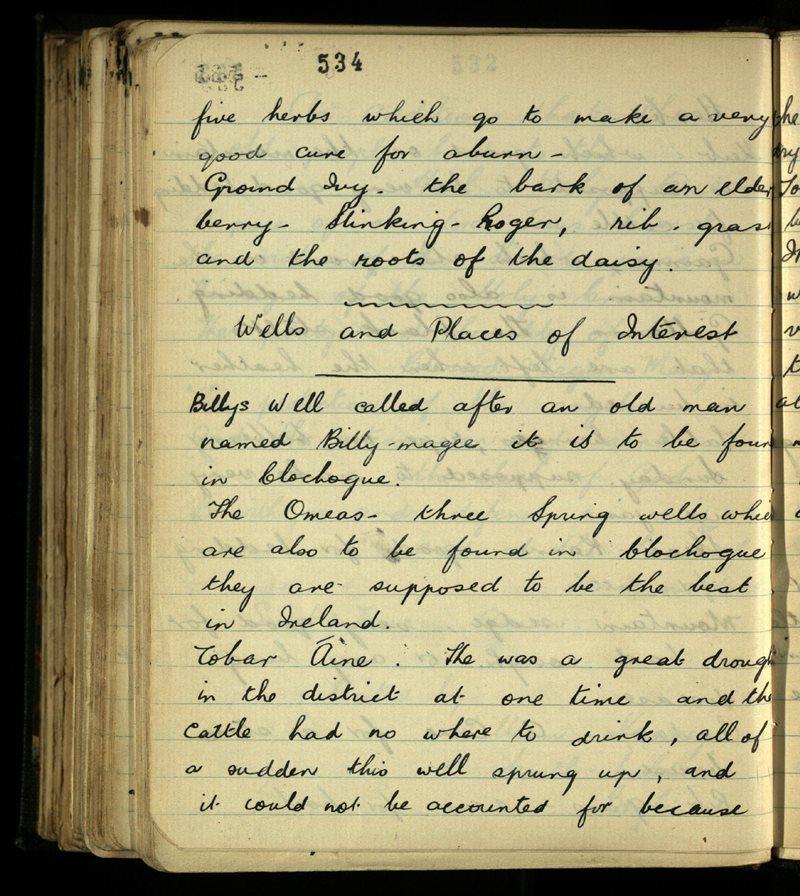 Kilmacallan/Kilmactranny   The Main Manuscripts Collection