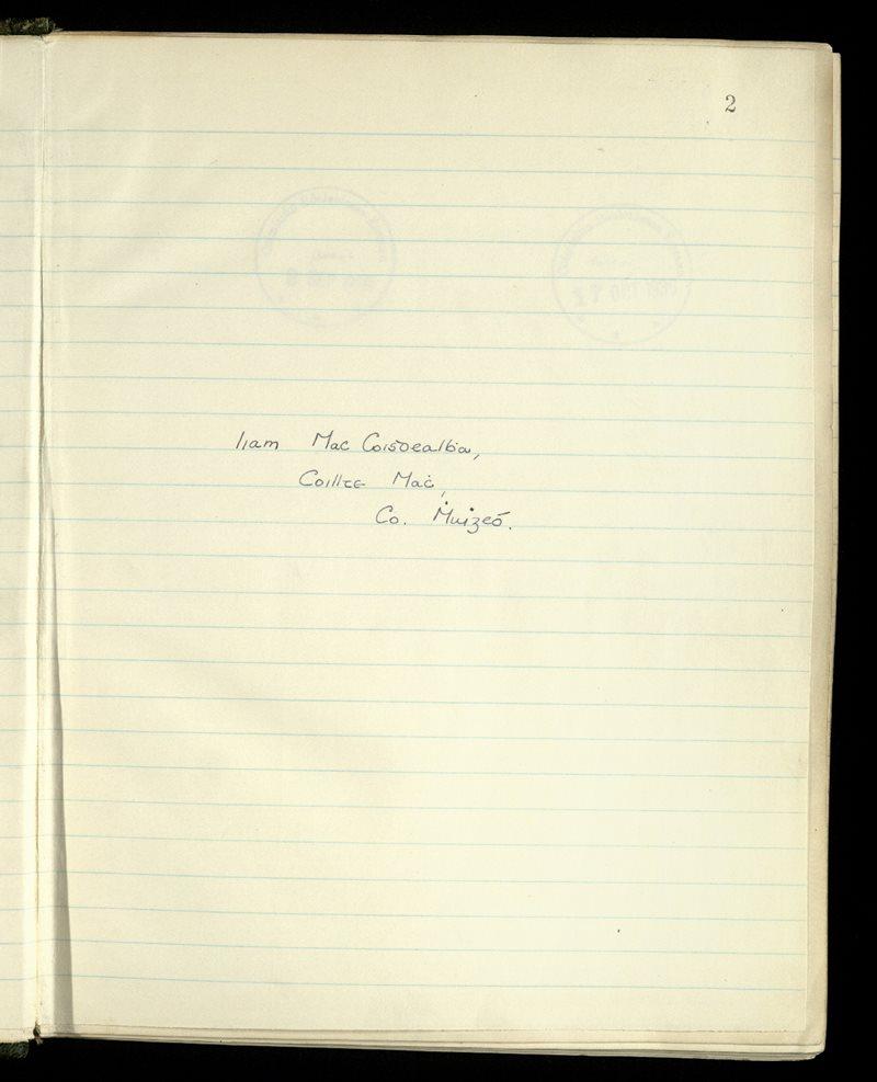 Abbeyknockmoy/Addergoole/Kilvine | The Main Manuscripts Collection