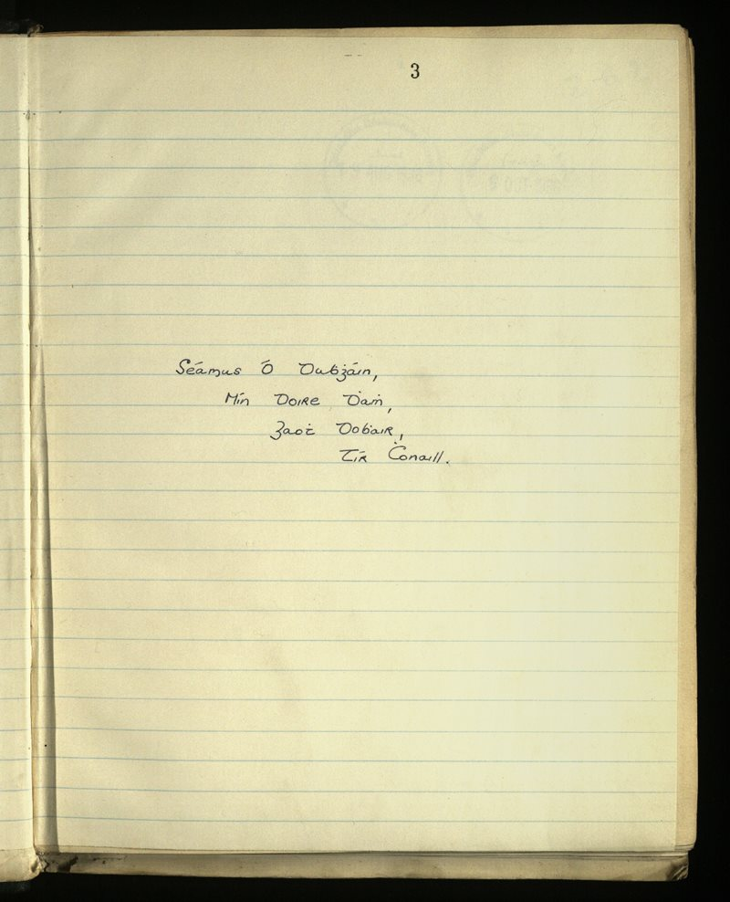 Gweedore | The Main Manuscripts Collection