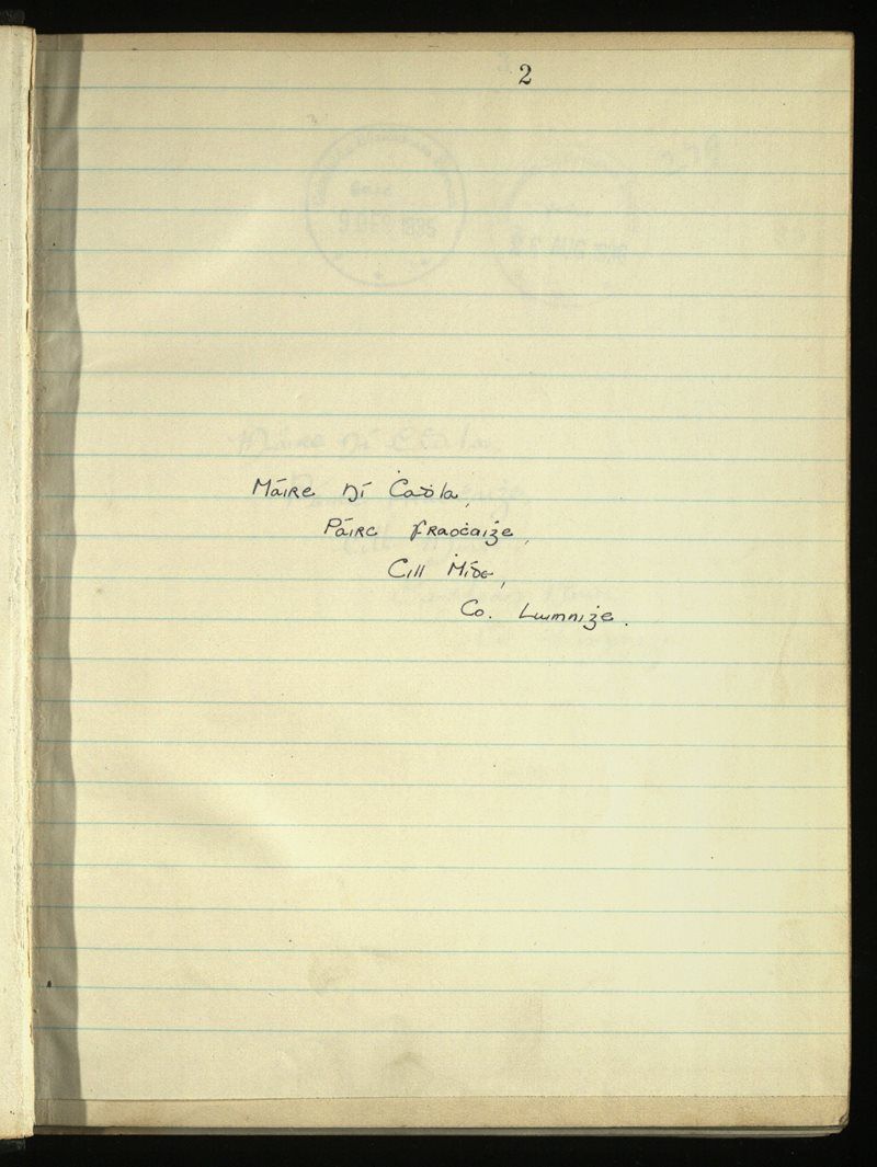 Ventry/Kilmeedy/Newcastle | The Main Manuscripts Collection