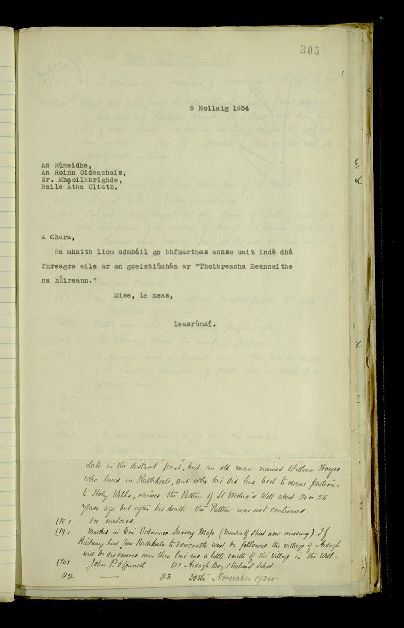 Lough Mackeenlaun   The Main Manuscripts Collection