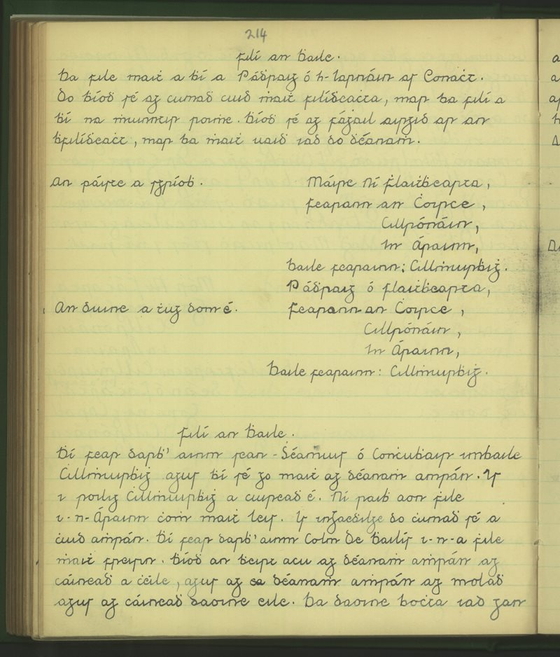 Fearainn an Choirce | The Schools' Collection