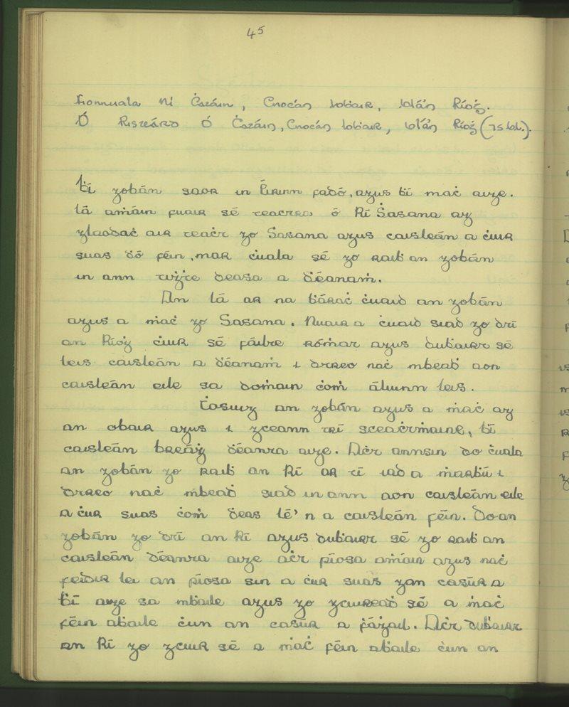An Clochar, B'l'Áthan Ríogh | The Schools' Collection