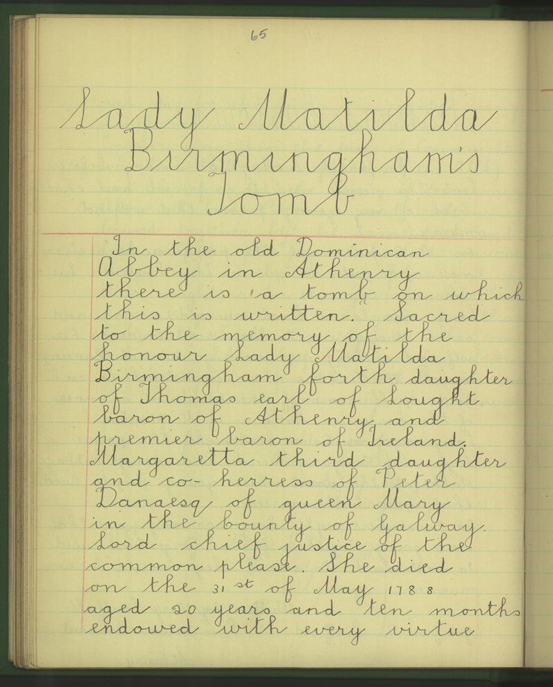 Lady Matilda Birmingham's Tomb