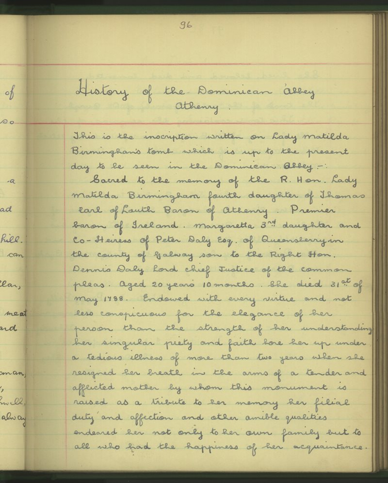 History of the Dominican Abbey Athenry