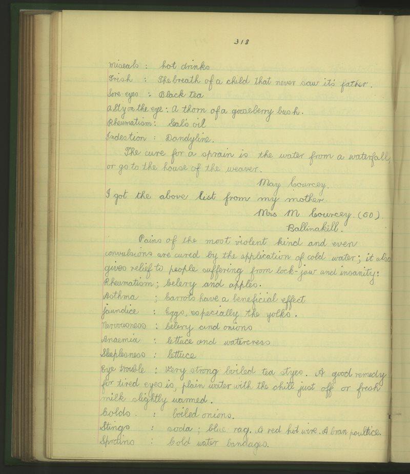 Cloigeann | The Schools' Collection