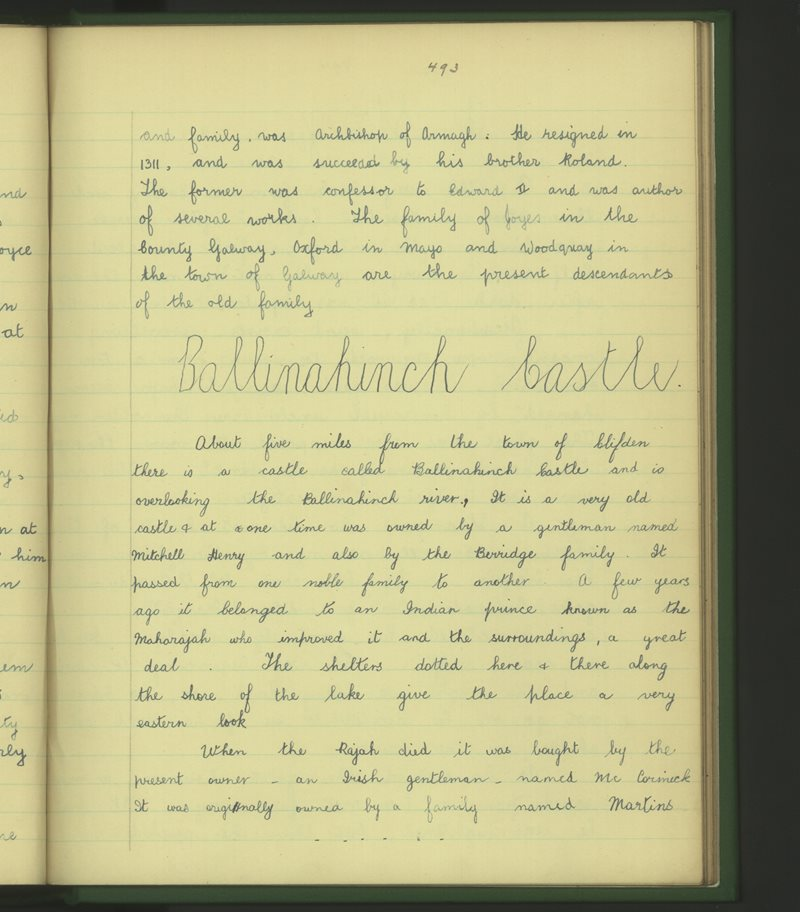Clochar na Trócaire, An Clochán | The Schools' Collection
