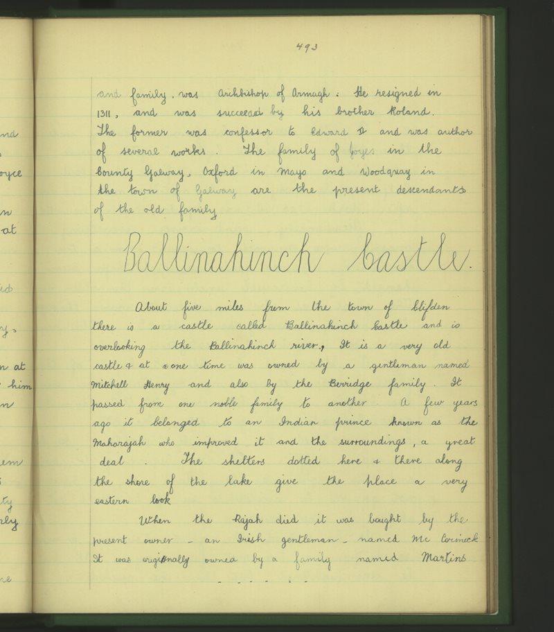Clochar na Trócaire, An Clochán | The Schools' Collection
