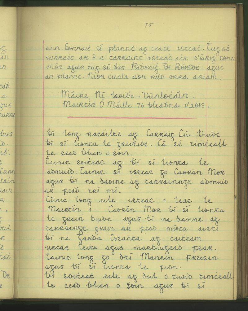 Dúnlocháin | The Schools' Collection