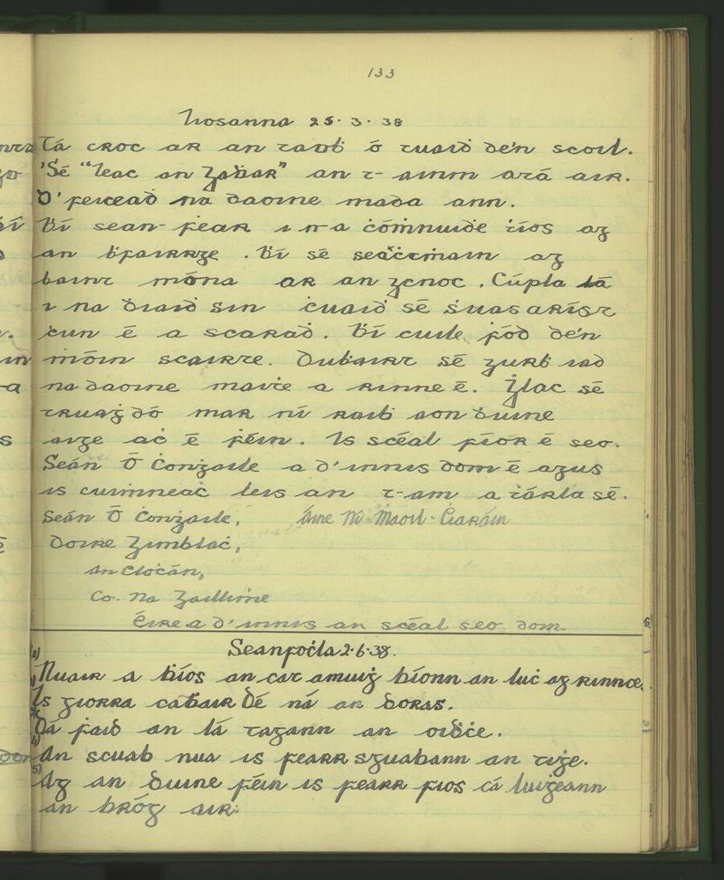 Béal an Átha Buí (Clochar)   The Schools' Collection