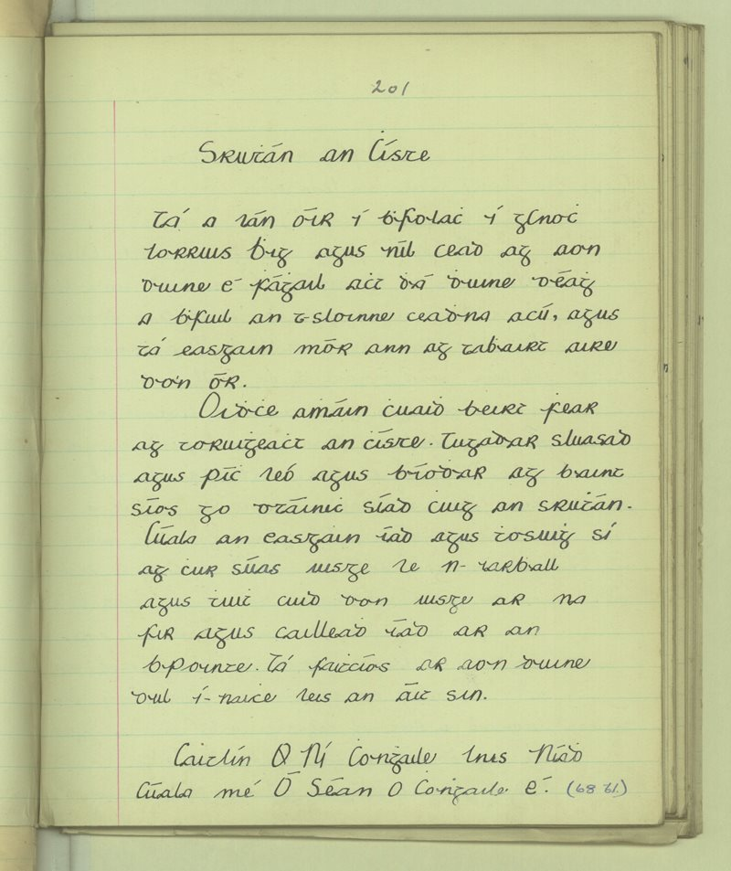 Inis Niadh | The Schools' Collection