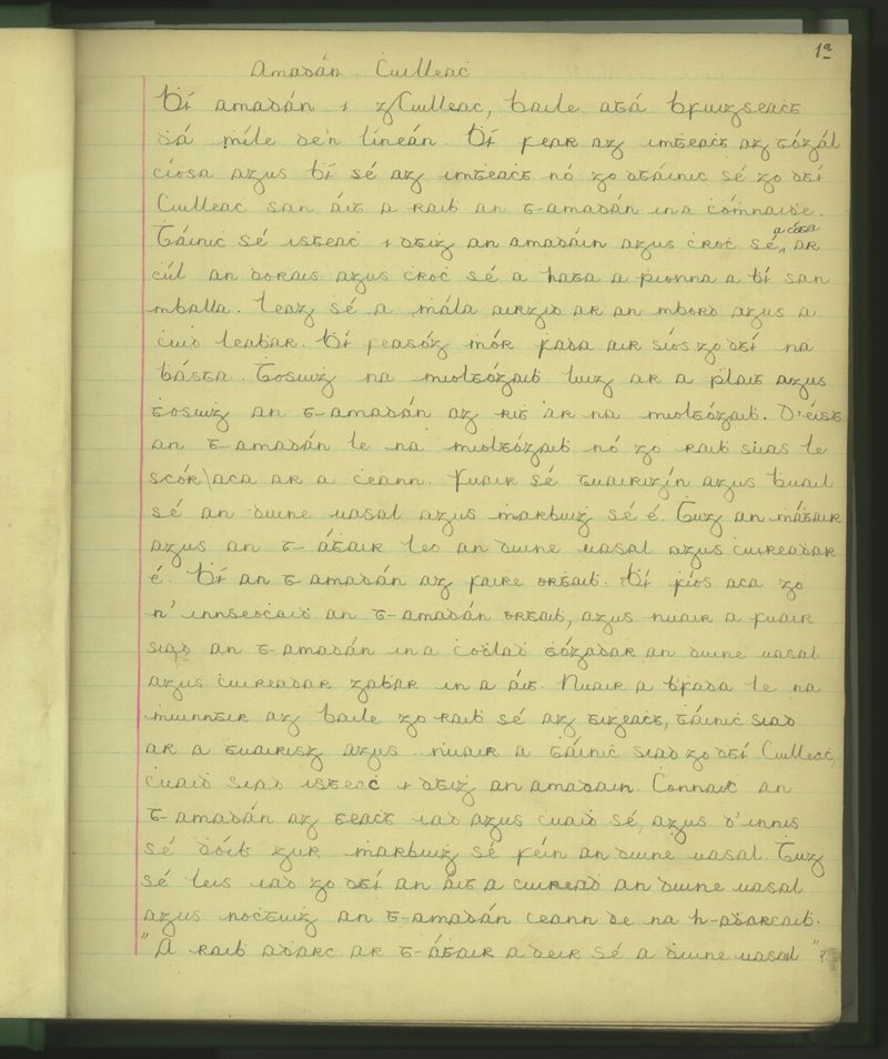 Loch Con Uidhre (Lochán Iarthach) | The Schools' Collection