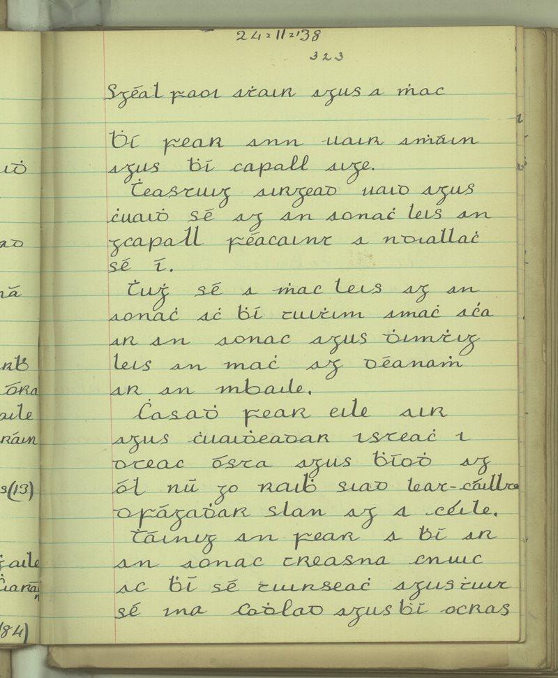 Scéal faoi Athair agus a Mhac