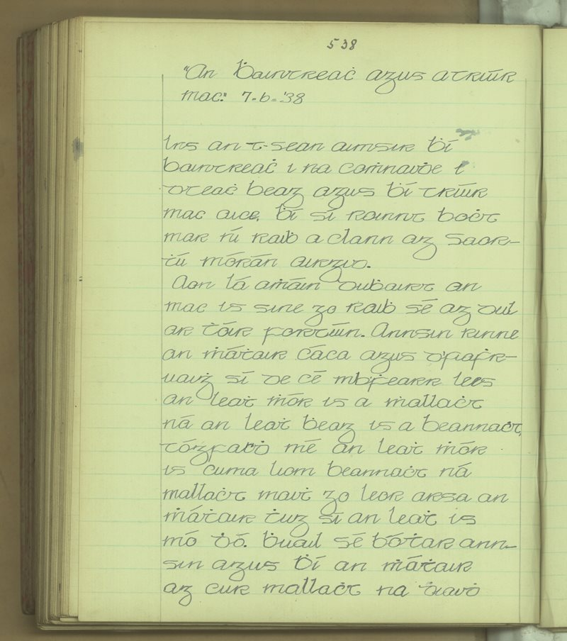 An Bhaintreach agus a Triúr Mac