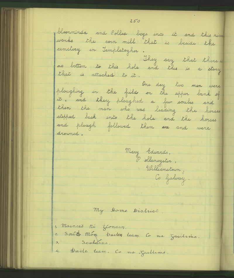 Baile Ruadh (Cailíní) | The Schools' Collection