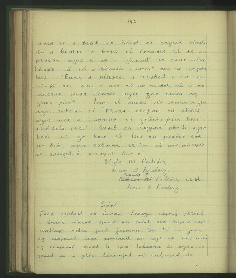 Creag Mór (Naomh Pádraig)   The Schools' Collection