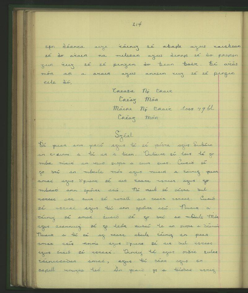 Creag Mór (Naomh Pádraig) | The Schools' Collection