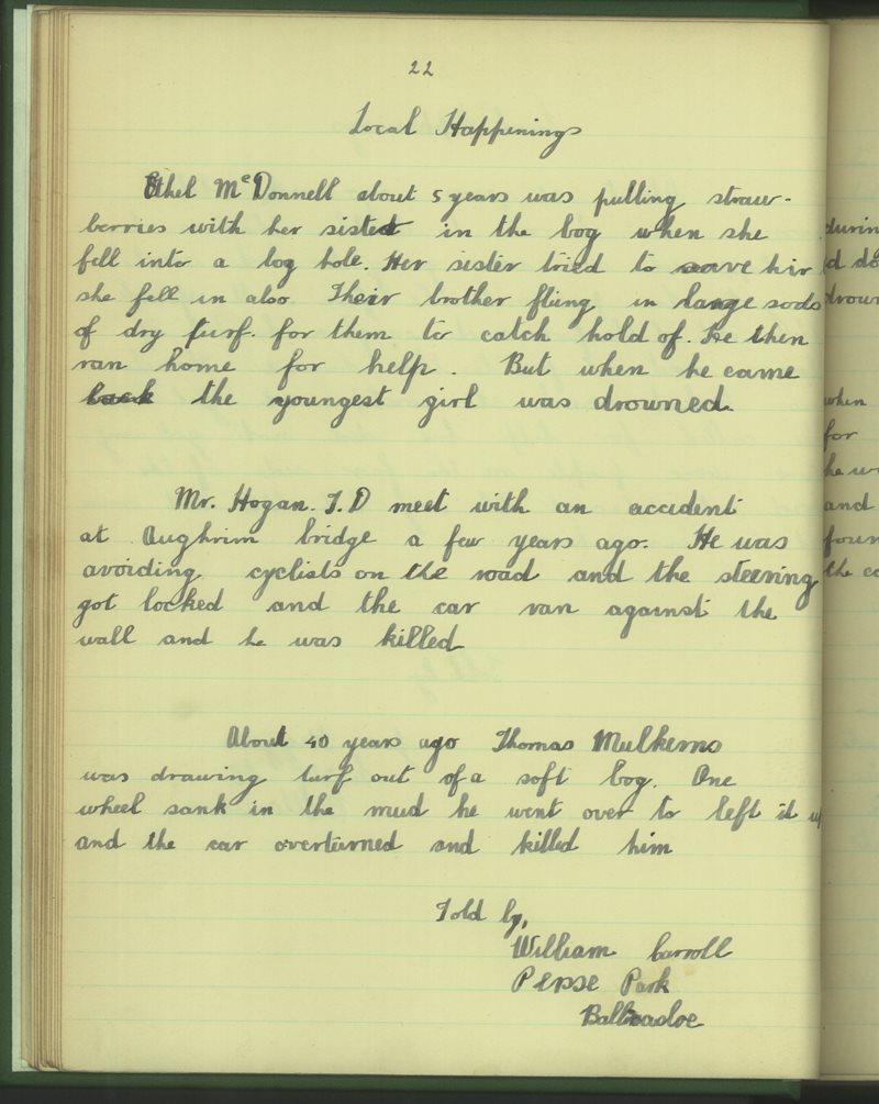 Béal Átha na Sluagh (Buachaillí) | The Schools' Collection