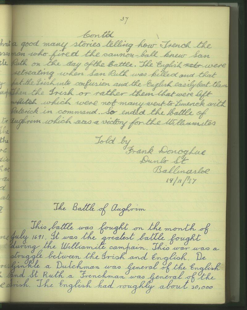 Béal Átha na Sluagh (Buachaillí) | Bailiúchán na Scol