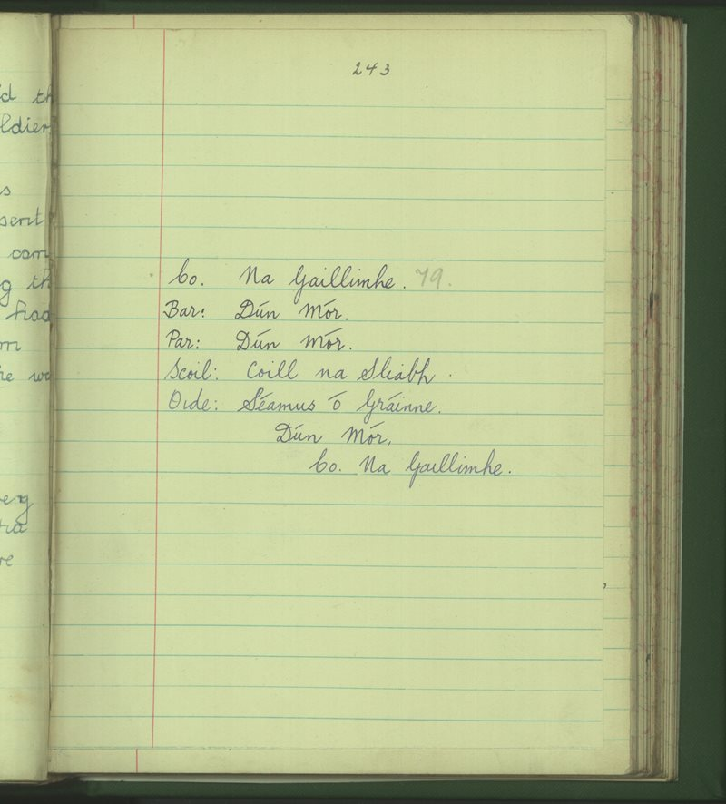 Coill na Sliabh   The Schools' Collection