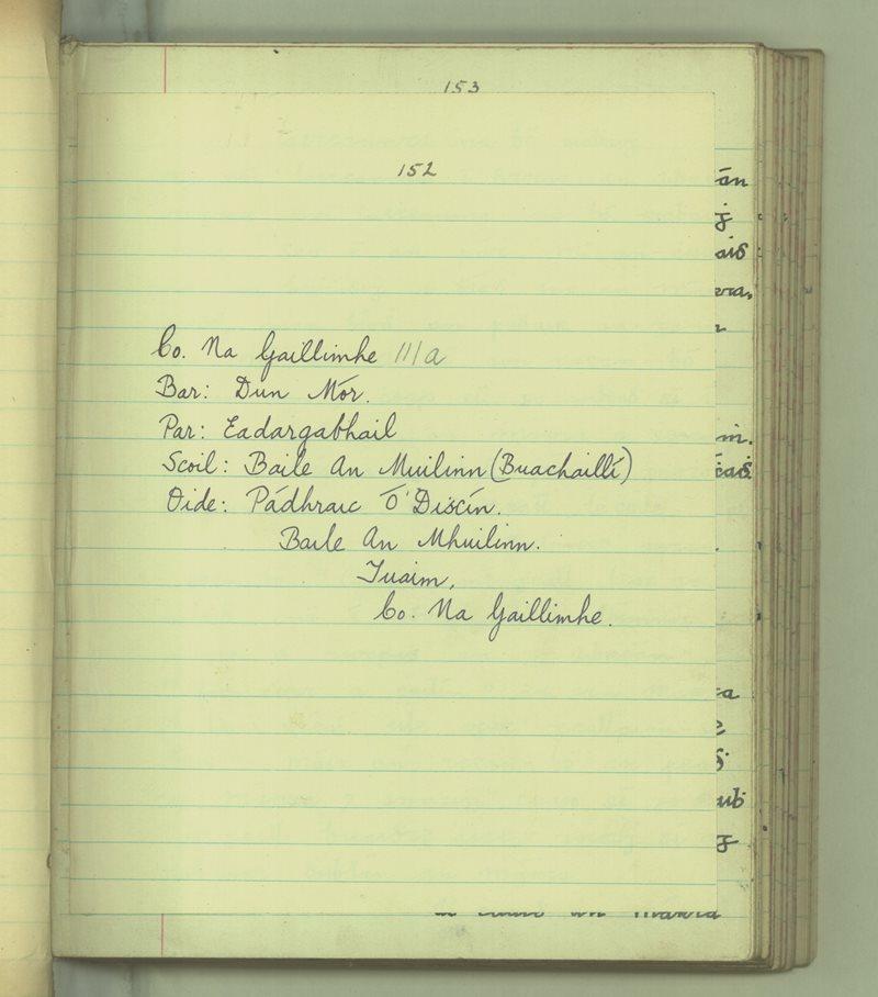 Baile an Mhuillinn (B) | The Schools' Collection