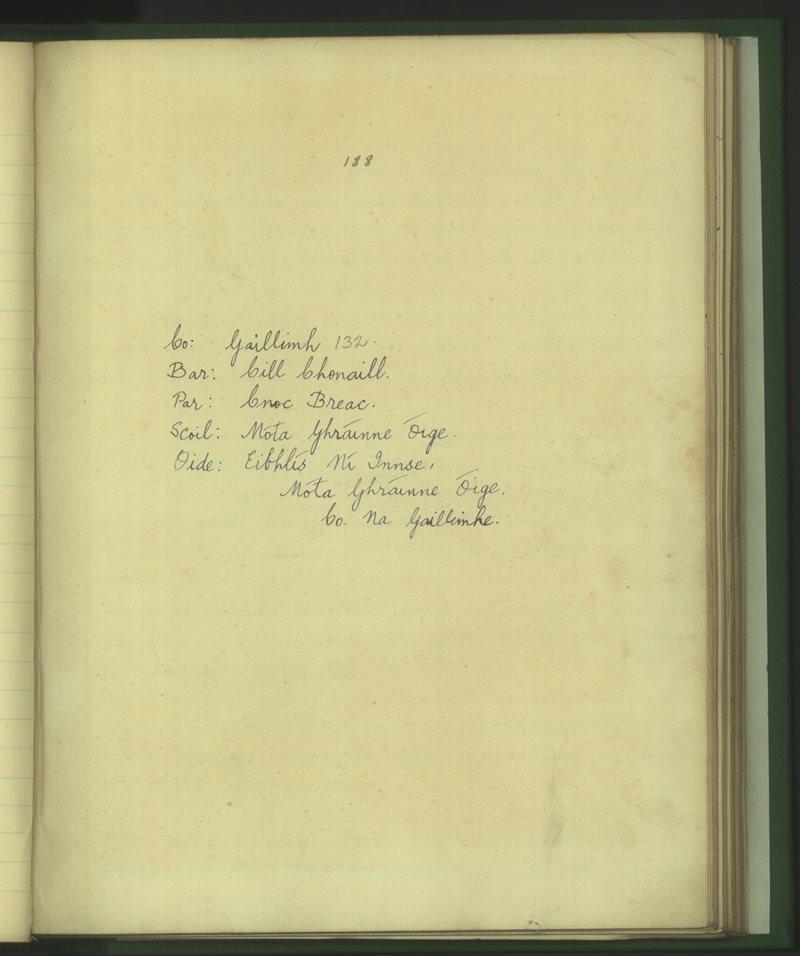 Móta Ghráinne Óige | The Schools' Collection