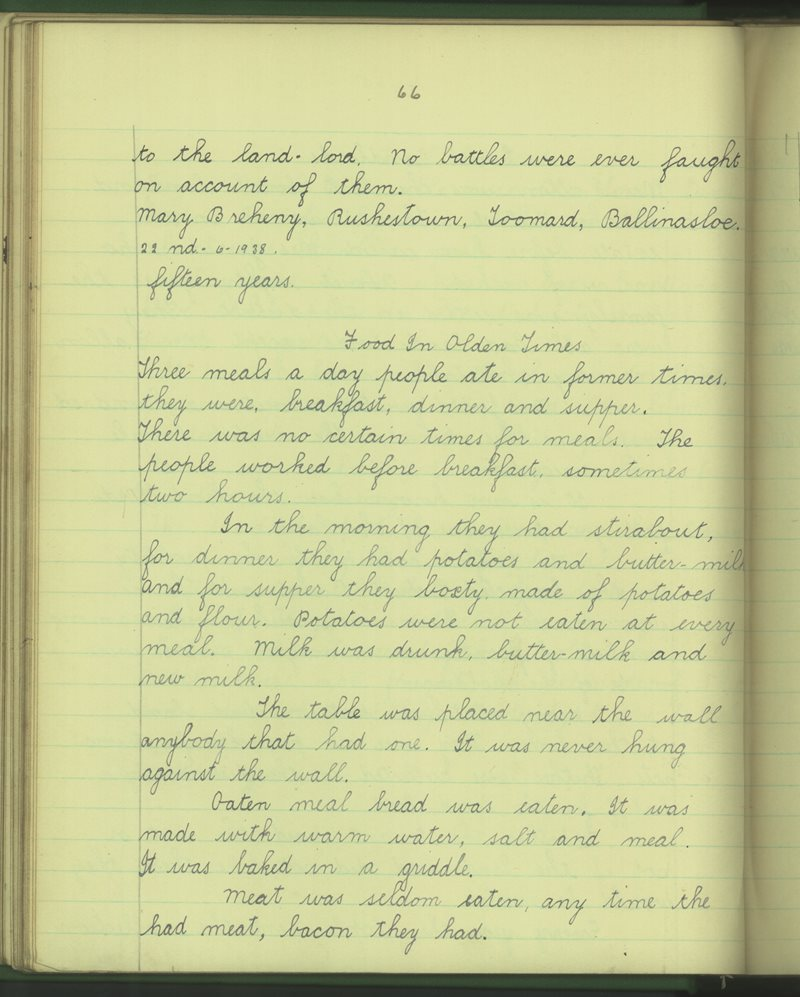 Gort na Gaoithe | The Schools' Collection