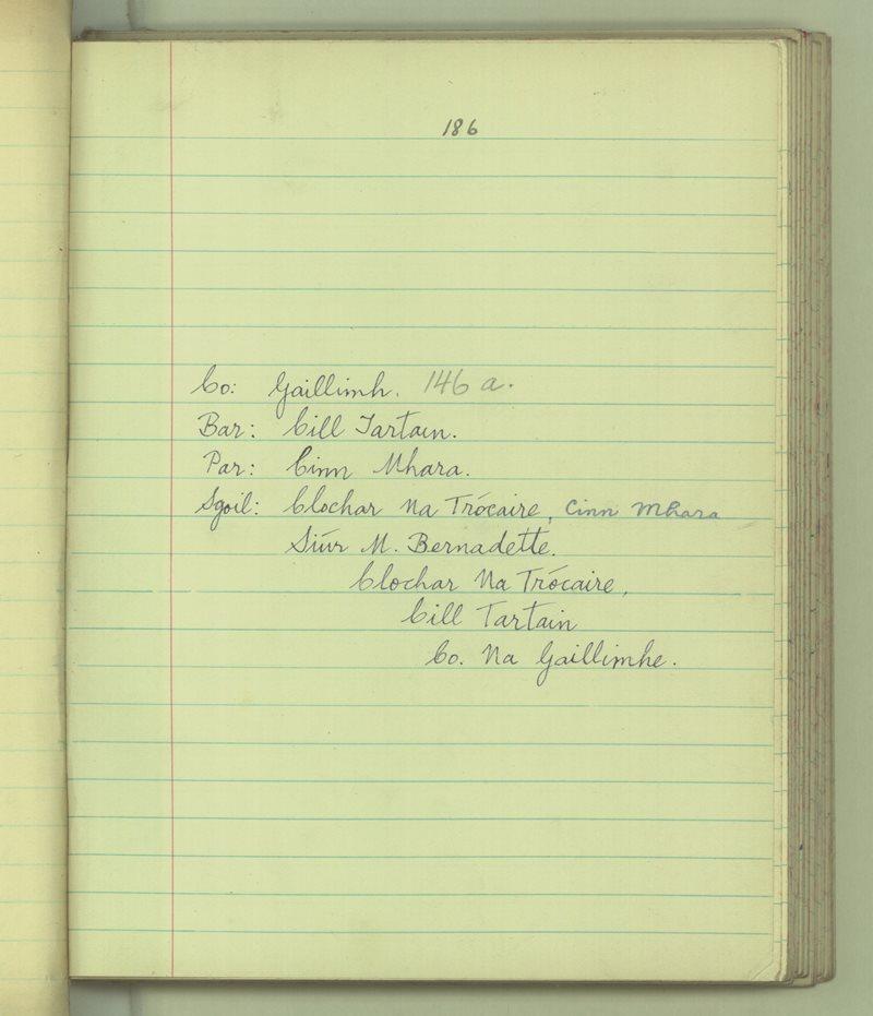 Clochar na Trocaire, Cinn Mhara   The Schools' Collection