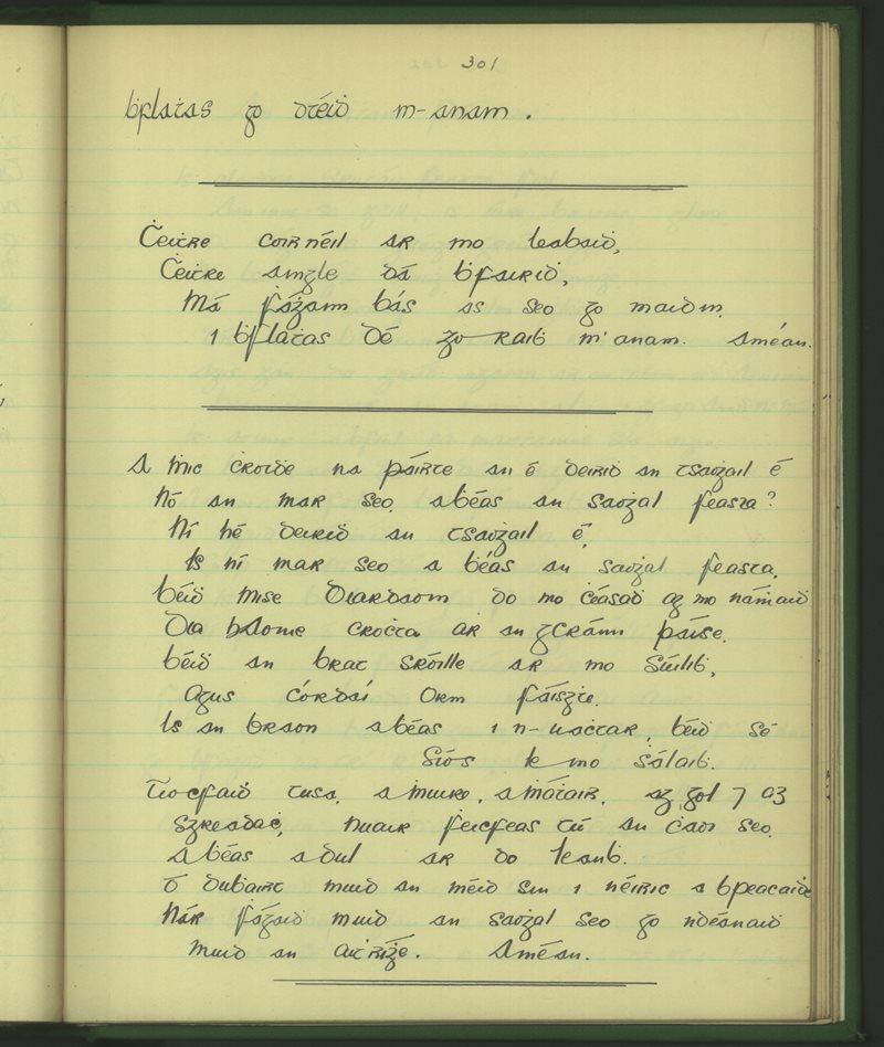 Gleann Mhic Mhuirinn   The Schools' Collection