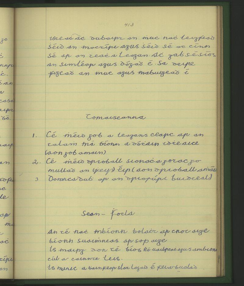 Oileán Iarthach | The Schools' Collection