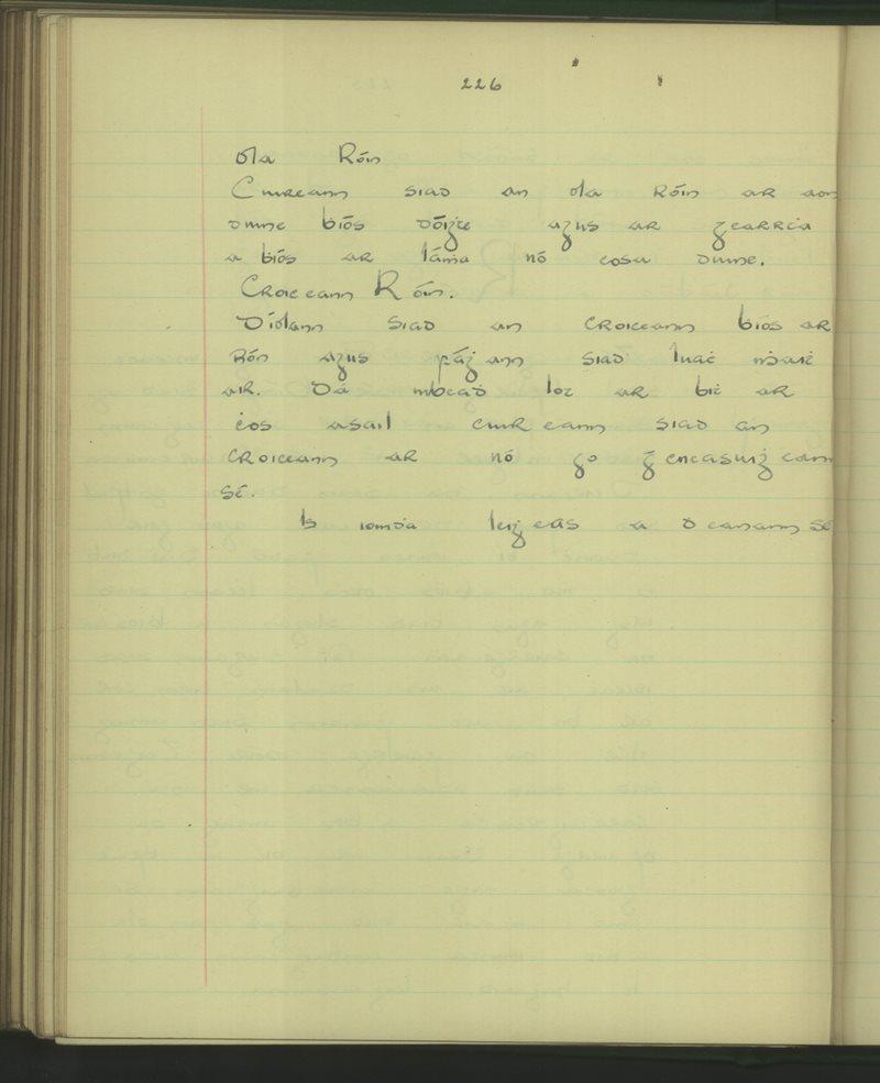 An Cnoc (Leitir Mór) | The Schools' Collection