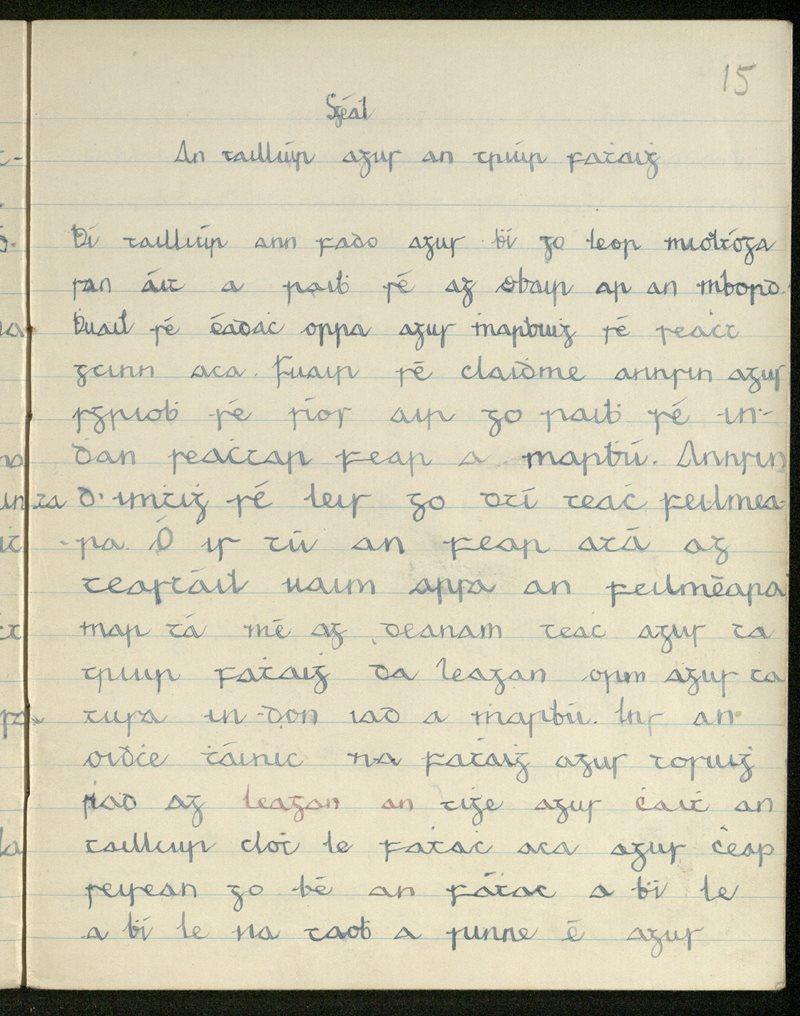 Scéal - An Táilliúir agus an Triúr Fathaigh