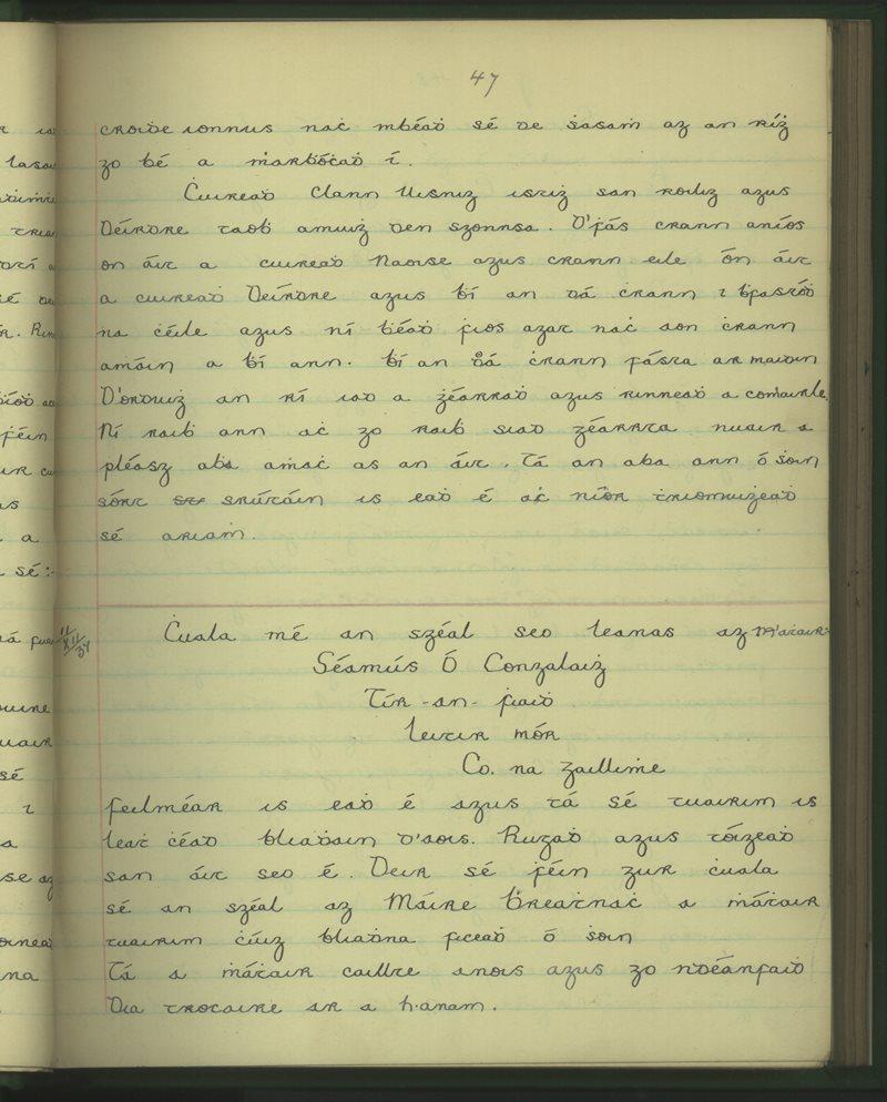 Tír an Fhiaidh | The Schools' Collection