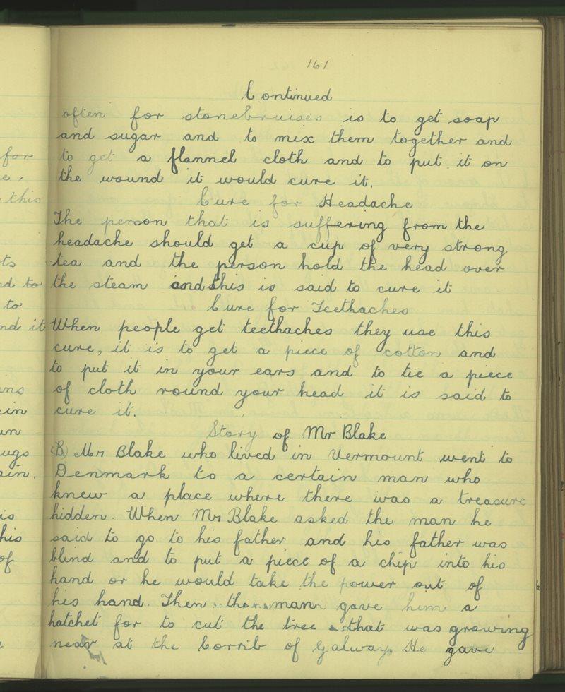 Naomh Ruadhan, Gallach   The Schools' Collection