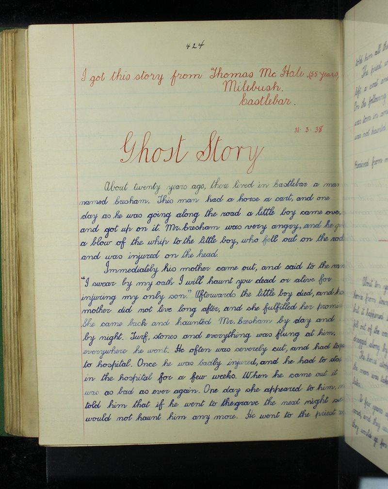 Naomh Angela, Caisleán an Bharraigh | The Schools' Collection