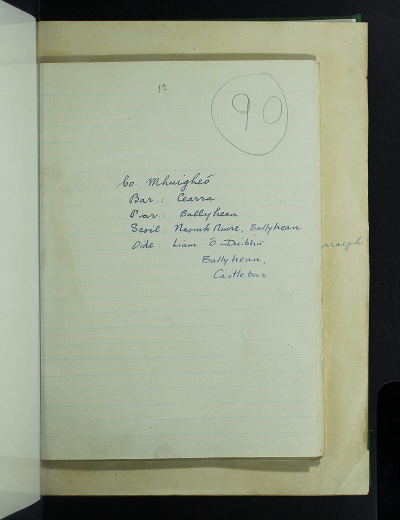 Naomh Muire, Ballyhean | The Schools' Collection