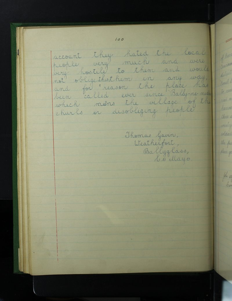 Cnoc Aoibhinn (Mount Pleasant) | The Schools' Collection