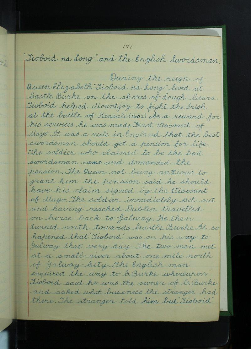 Tioboid na Long and the English Swordsman