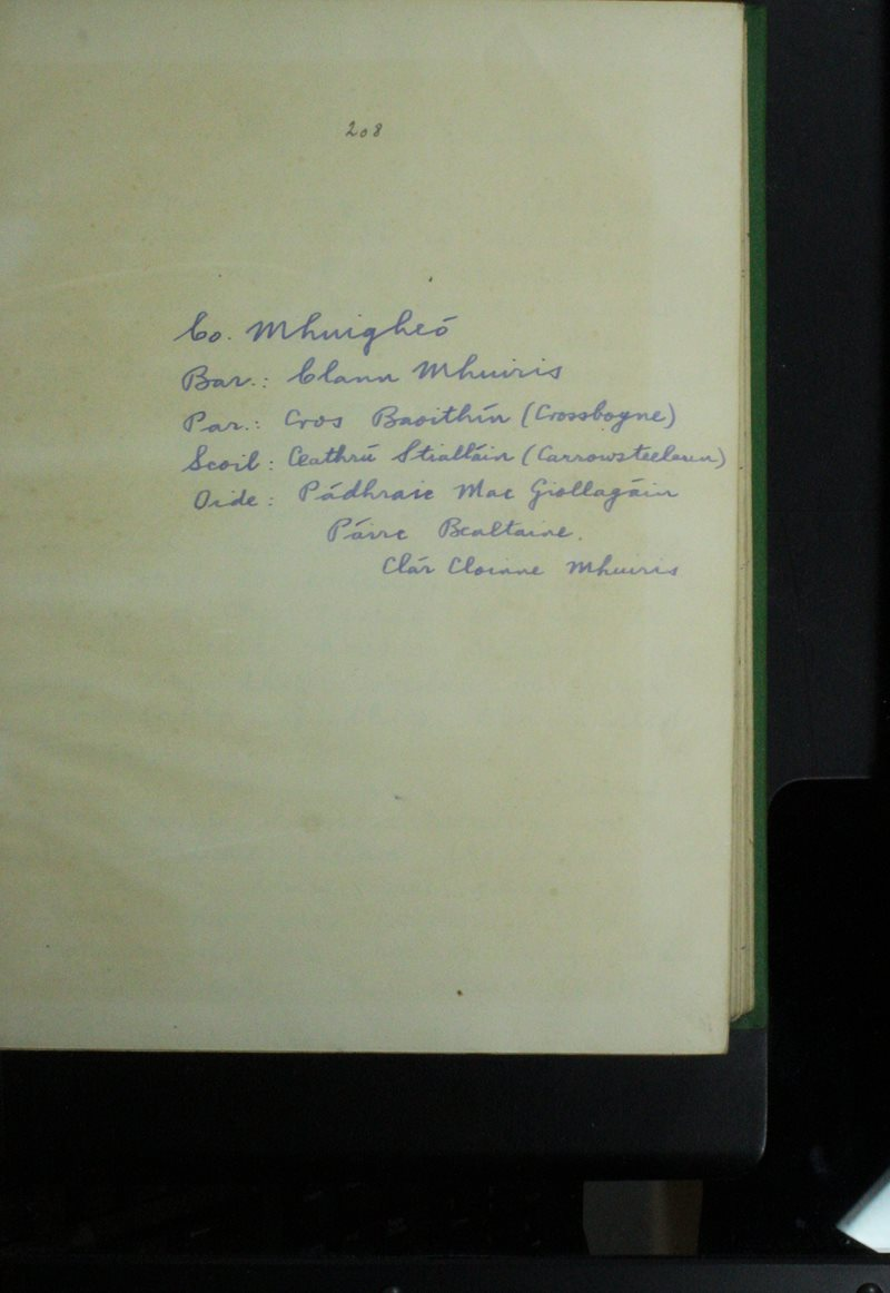 Ceathrú Stialláin (Carrowsteelawn) | The Schools' Collection