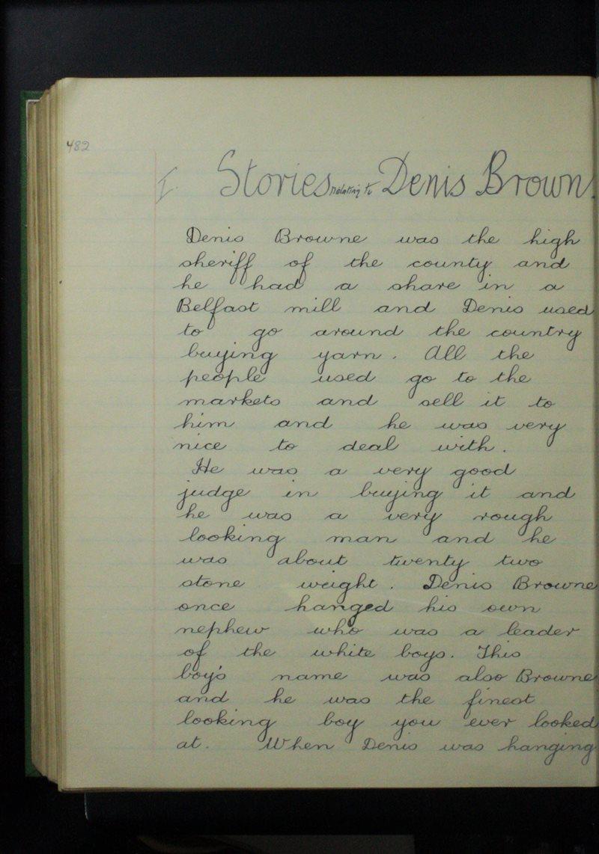 Stories Relating to Denis Browne